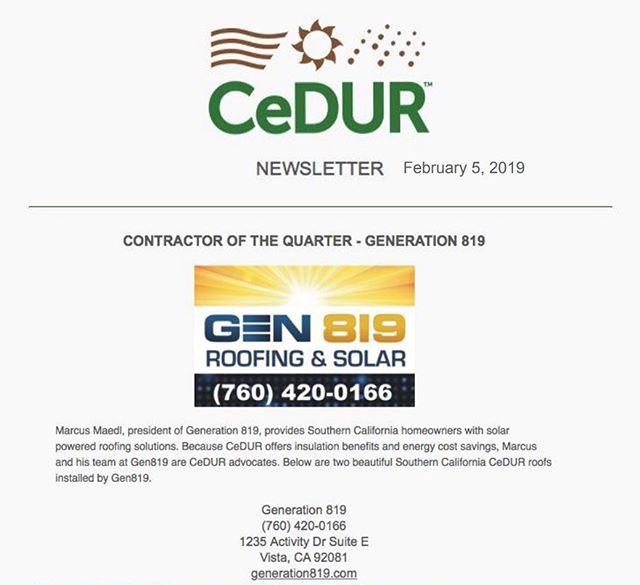 Contractor of the Quarter – GEN819