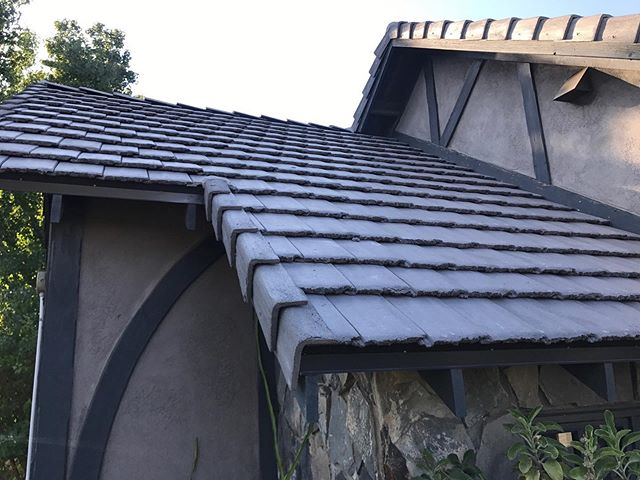 concrete tile roof side