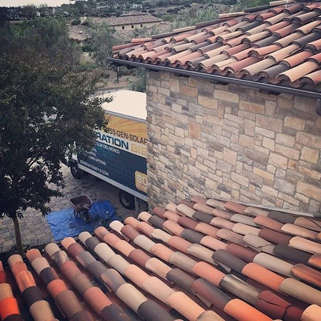 finished spanish tile roof replacement