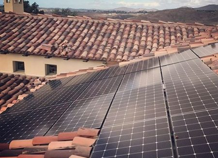 Spanish Tile Roof With Solar