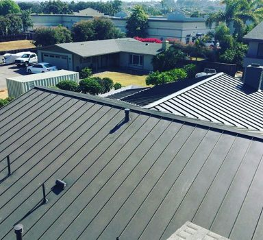 New Metal Roof With Solar