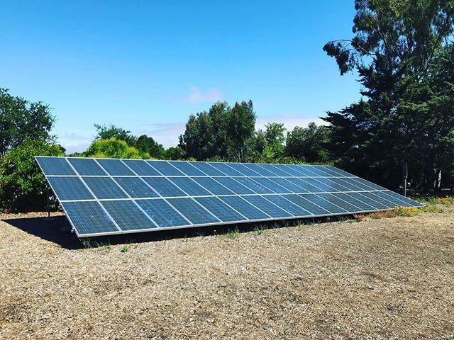 large solar panels und ground