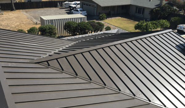 standing seam metal roofing from top